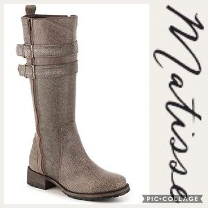 """""""Roady"""" Knee High Zip Up Leather Boots- Matisse"""